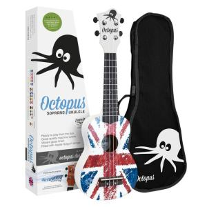 Octopus Flag Series Soprano Ukulele Union Jack White