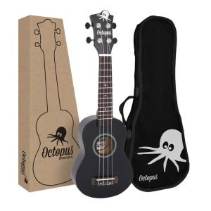 Octopus natural series soprano ukulele Matt black
