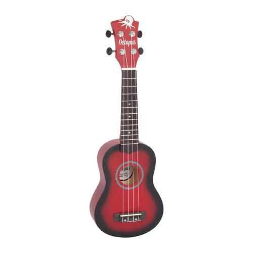 Octopus matt burst series soprano ukulele Red burst