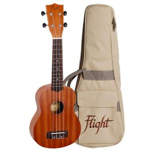 Flight NUS310 Soprano Ukulele Sapele With Bag