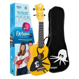 Octopus Kane Series Soprano Ukulele Yellow