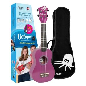 Octopus metallic series soprano ukulele Purple
