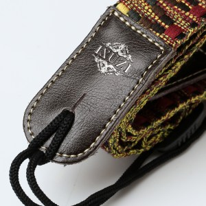 ISUZI UKLL50 Leather Ukulele Strap with front image
