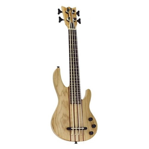 Mahalo Solid Electric Bass Ukulele Natural