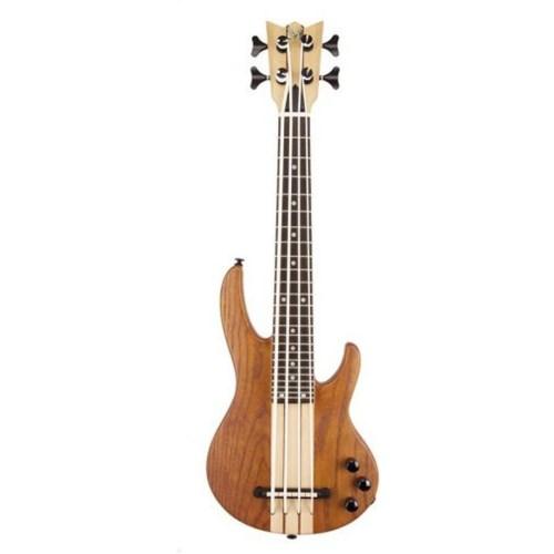 Mahalo Solid Electric Bass Ukulele Brown