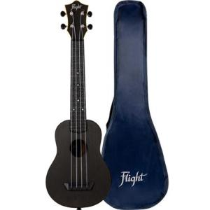 Flight TUSL35 Long Neck ABS Travel Ukulele Black With Cover