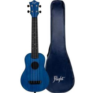 Flight TUSL35 Long Neck Travel Ukulele Dark Blue With Cover