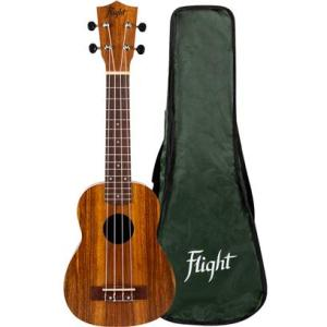 Flight NUS200 Soprano Ukulele Teak With Cover
