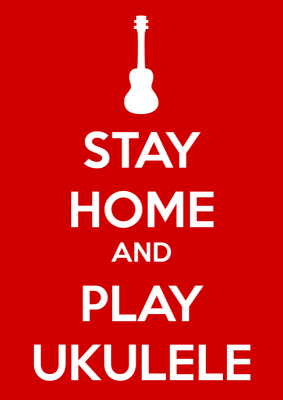 image ukulele stay home
