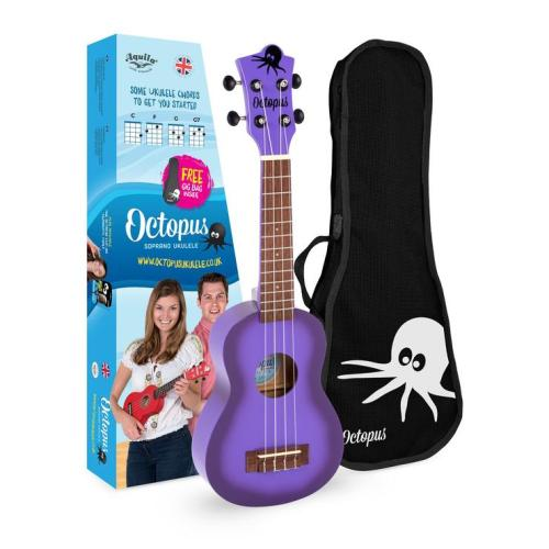 Octopus Soprano Ukulele Purple burst