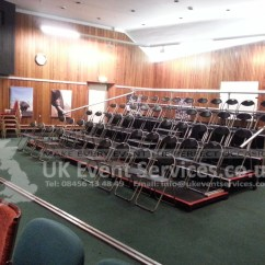Chair Cover Hire London Stool Rentals Uk Event Services - Professional Tiered Stage Platforms, Seating Banks, ...