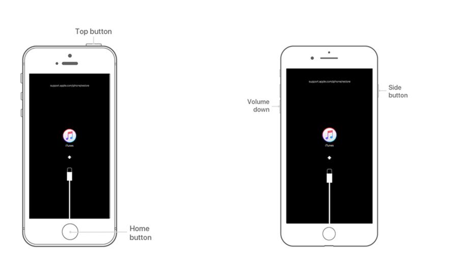 IPhone 6 немесе одан бұрынғы нұсқасын қалпына келтіру режиміне аударыңыз