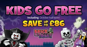 Legoland Holidays October Half Term from £36pp - Kids go FREE + Save up to £86 per Family