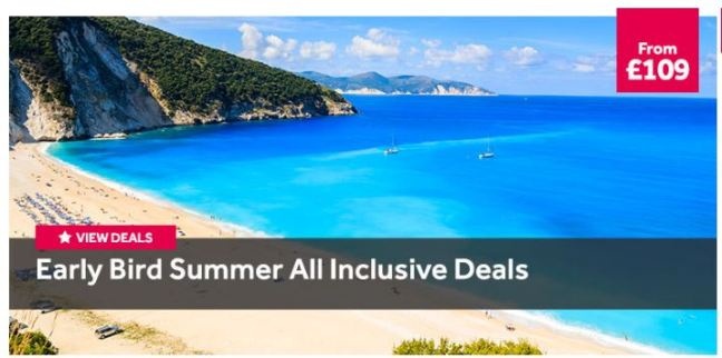 Summer All Inclusive holidays from £109