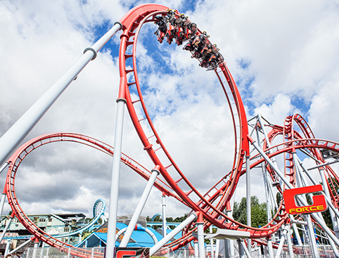 Drayton Manor features some of the biggest, wettest and scariest rides around!