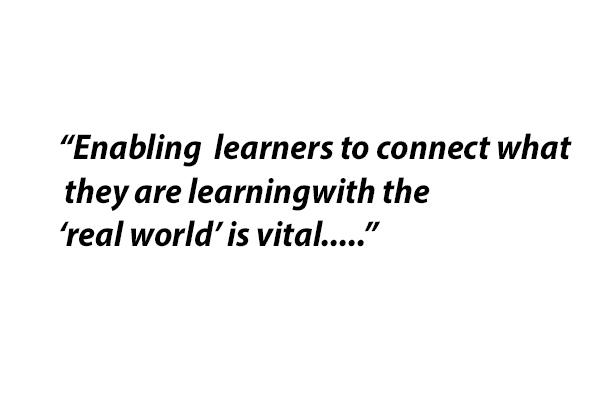 Enabling learners to connect what they are learning with