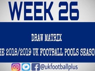 Week 26 - Football pools draws