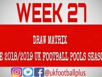 Week 27 - Football Pools Draws