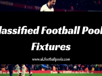 Classified Football Pools Fixtures