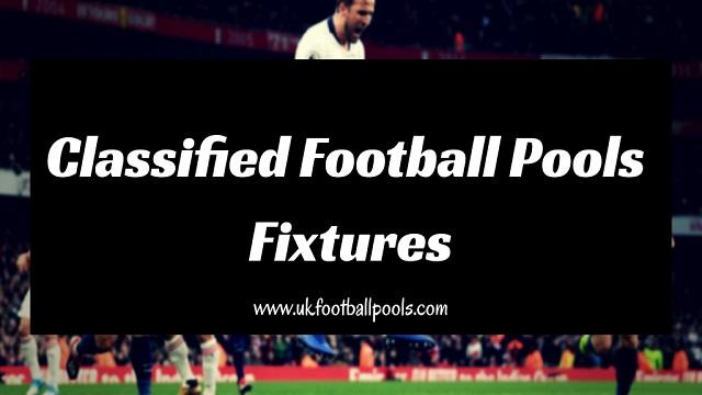 Classified Football Pools Fixtures