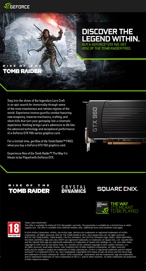 They are used to add conditions to the expedition game mode. Rise of the Tomb Raider Nvidia Promotion | Articles from UK Gaming Computers