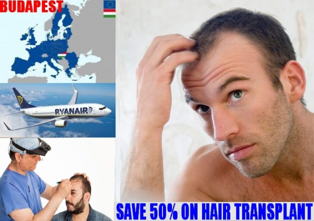 Hair transplant Budapest - 50% more affordable than in Manchester!