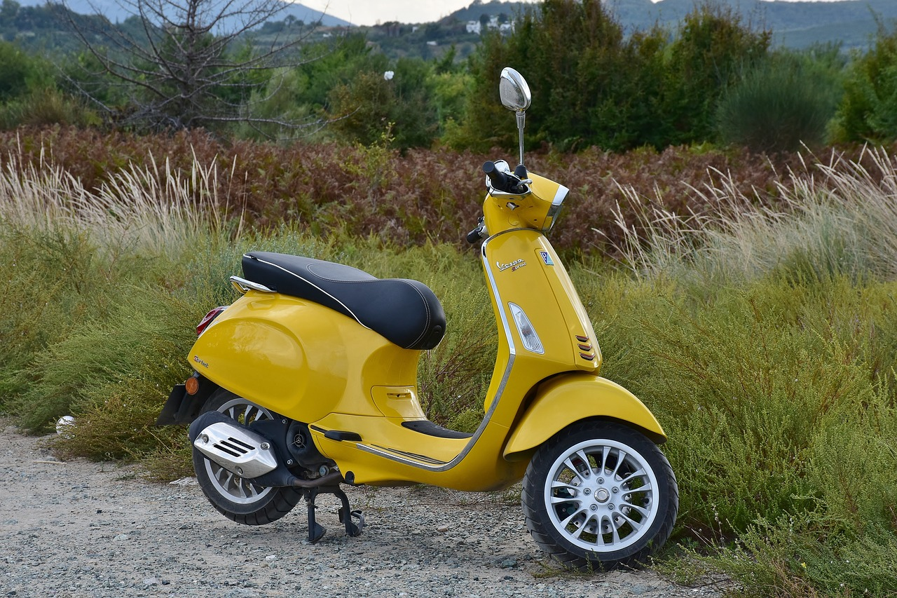 yellow scooty