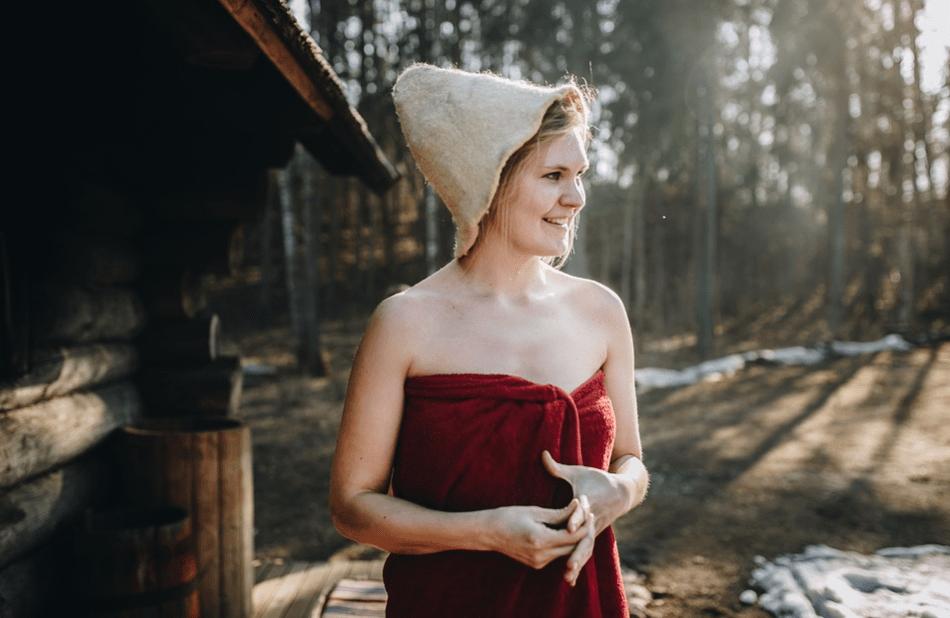 lady from a sauna baths
