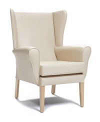 CK High Back Chair Vinyl With Wings - UK Healthcare Chairs