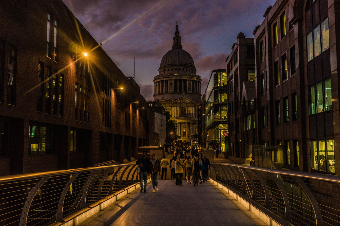 Night View of St. Paul's Cathedral London