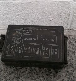 mazda mx5 eunos mk1 1990 1997 fuse box cover under bonnet n027 [ 1600 x 900 Pixel ]