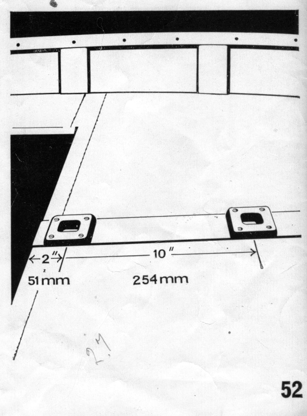 hight resolution of plate 52 from the original bell woodworking building instructions