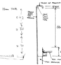 this sketch shows the transom cross section position of mouldings and dimensions [ 1280 x 917 Pixel ]