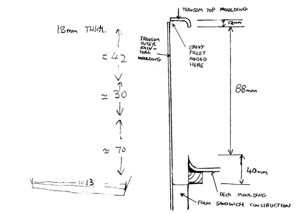 medium resolution of this sketch shows the transom cross section position of mouldings and dimensions