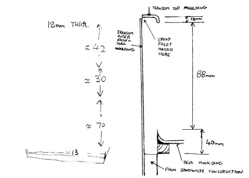 small resolution of this sketch shows the transom cross section position of mouldings and dimensions