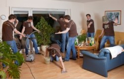 cleaning service workers