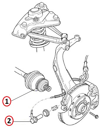 BMW X3 ABS RELUCTOR RING + ABS SENSOR KIT (E83) REAR