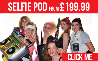 Selfie Pod Photo Booth Hire from £199.99