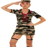 girl dressed in camo