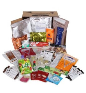 open MRE food ration pack