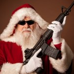 santa with a rifle