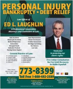 Ed Laughlin Law ad