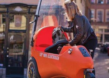 ايفو موبيليتي تبتكر سيارة كهربائية ذات ثلاث عجلات LEF