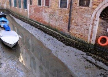 جفاف قنوات المياه في البندقية