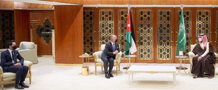 .الأردن الملك عبدالله الثاني يلتقي ولي العهد السعودي