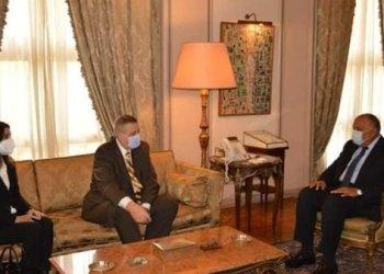 وزير الخارجية المصري يستعرض مع مبعوث الامم المتحدة الوضع في ليبيا