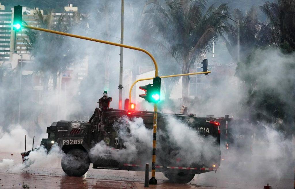 استمرار المظاهرات في كولومبيا
