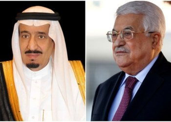 عاهل السعودي الملك سلمان والرئيس الفلسطيني محمود عباس