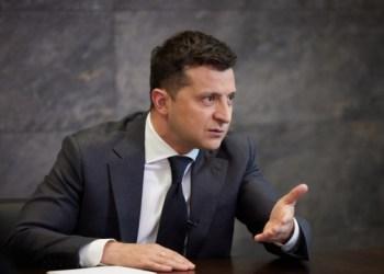 الرئيس فولوديمير زيلينسكي