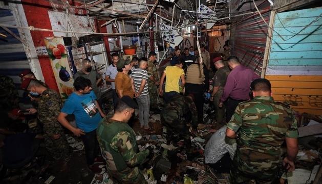 ارتفاع عدد قتلى سوق بغداد إلى 25 قتيلا